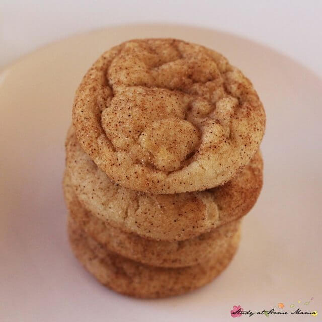Oh yum! I love snickerdoodle cookies and I think I've stumbled on the BEST snickerdoodle cookie recipe - quick, easy, and melt in your mouth delicious
