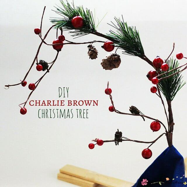 Kids Craft Idea: DIY Charlie Brown Christmas Tree - a great present that kids can make