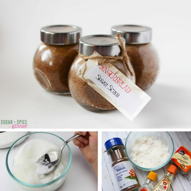 How to make gingerbread sugar scrub with kids - a delicious smelling homemade gift