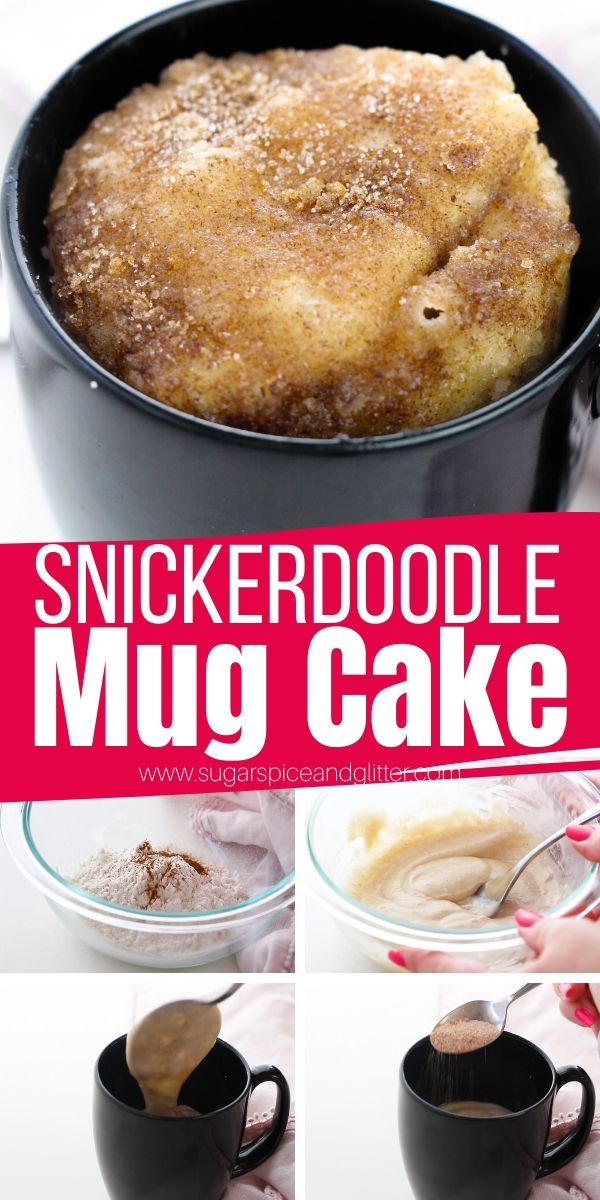 Snickerdoodle Mug Cake With Video Sugar Spice And Glitter