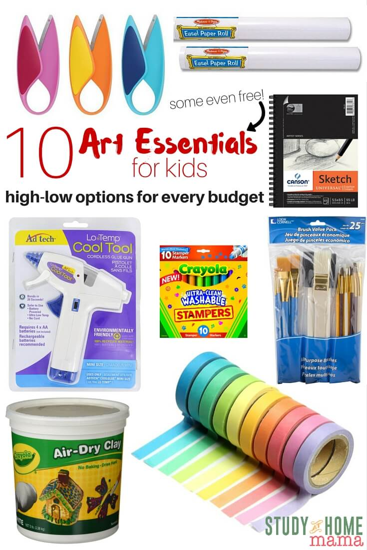 Do you have a budding artist at home? These 10 art essentials for kids will allow for so many different creative endeavours - and best of all, some are even free art materials!