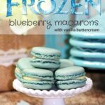 Frozen Party Food: Blueberry Macarons