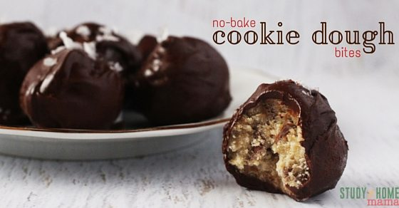 Kids' Kitchen No-Bake Cookie Dough Bites are perfect for any get together. Kids can make delicious chocolate balls for friends and family. Sweet and salty flavor in bite sized portions.