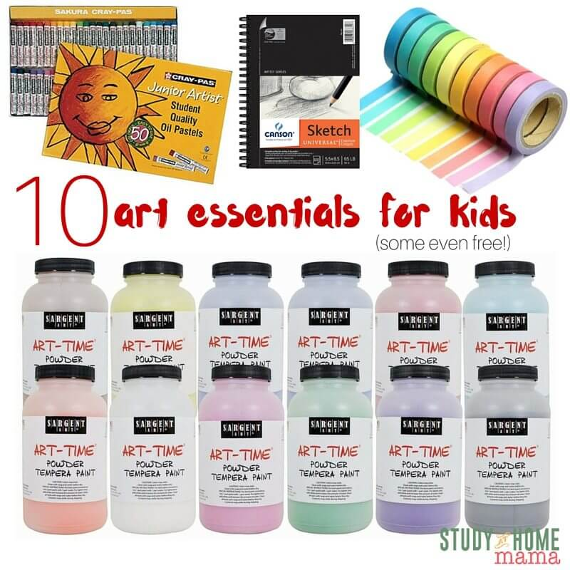 What are the best art supplies to get for kids? Well, here's my list - and some are even free!