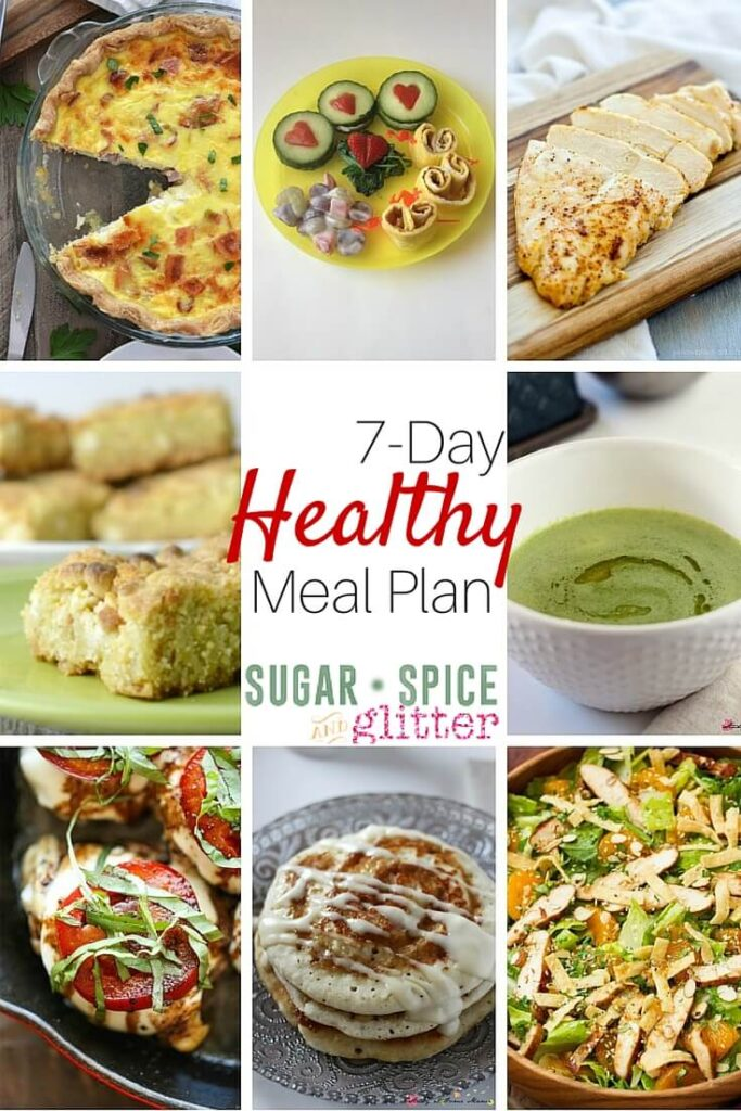 7 day simple healthy meal plan sugar spice and glitter
