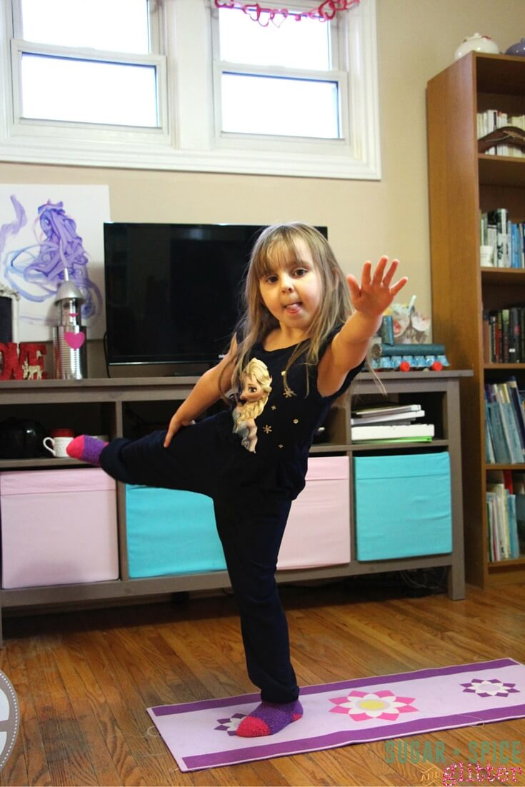 Ballet Yoga Pose - Dancer's Pose is a tricky one to get right, so ensure your child is comfortable above all else