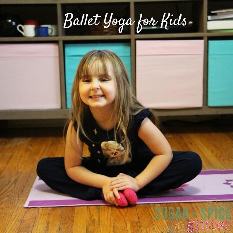 Ballet Yoga for Kids - Butterfly Pose is a favourite for little yogi's and ballerinas alike