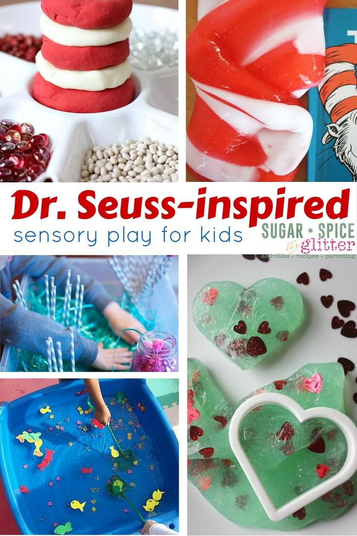 Dr. Seuss-inspired Sensory Play for Kids - sensory activities inspired by classic stories like the Cat in the Hat, The Grinch, The Lorax, and more!
