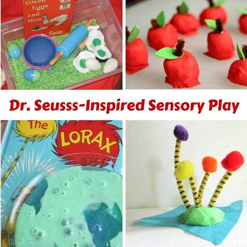 Dr. Seusss-Inspired Sensory Play Ideas - sensory activities for kids based on classic books