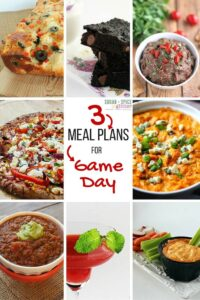 Game Day Meal Plans