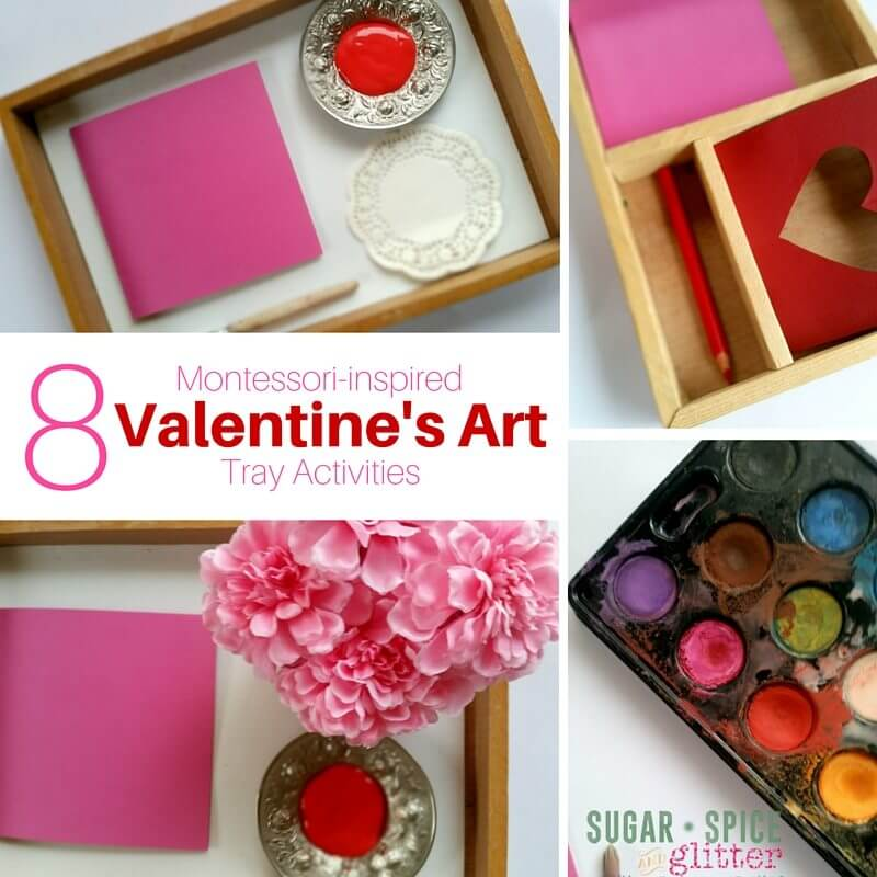 Montessori Valentines Art Activitites