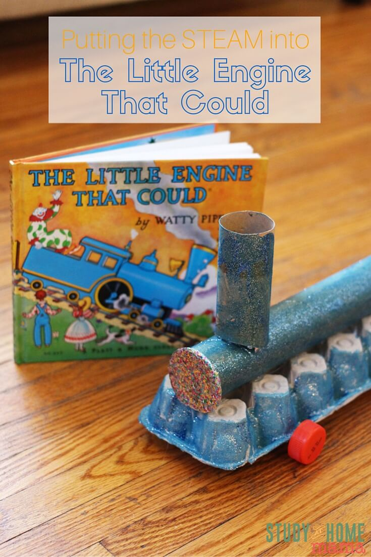 The Little Engine That Could Science Experiment - make your own train craft and then actually make it self-propel with this fun book-inspired activity for kids!