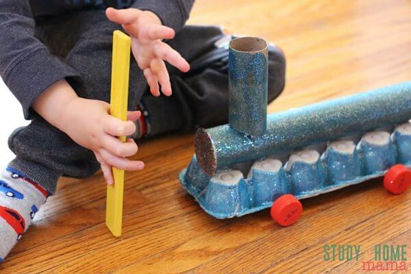 The Magnetized Train - a simple paper clip can help transform this train into a self-propelled craft!