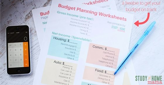 Budget Printables: a freebie to get your budget on track