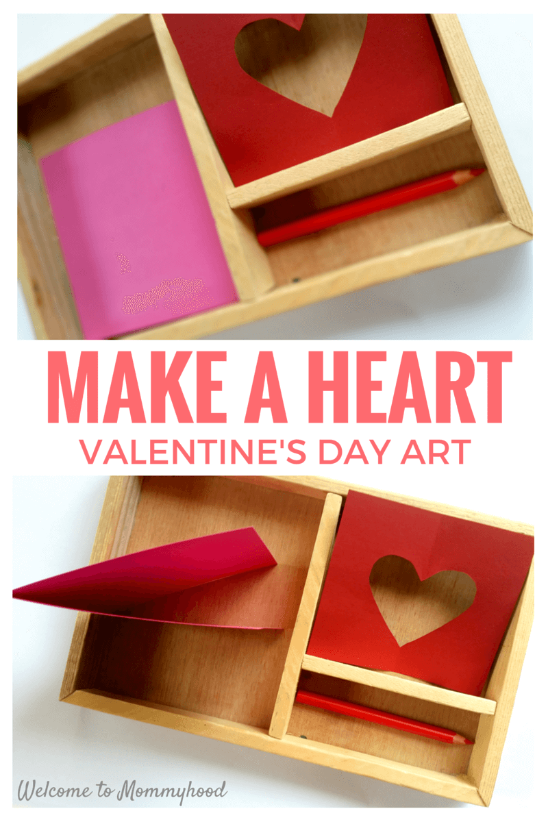 Make a Heart: Valentine's Day Art made with the Montessori Insets