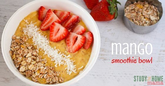Yum! This mango smoothie bowl is the perfect healthy breakfast recipe to get you started with healthier mornings.