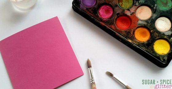 Paint a Valentine's Day Card - Simple Valentine's Art Activity