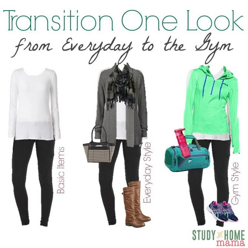 No time to change for the gym? Here's how you can transition one look from everyday to the gym. Workout fashion