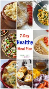 7 Day Healthy Meal Plan on Sugar Spice and Glitter