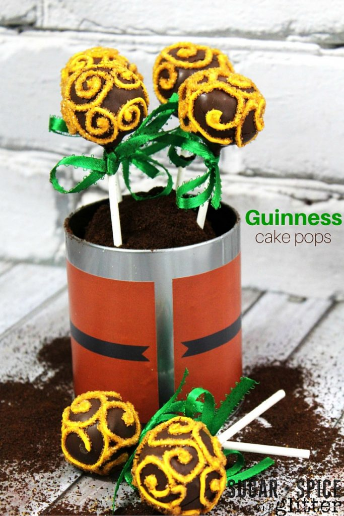 Guinness Chocolate Cake Pops are rich in flavor and the perfect St. Patrick's Day dessert.