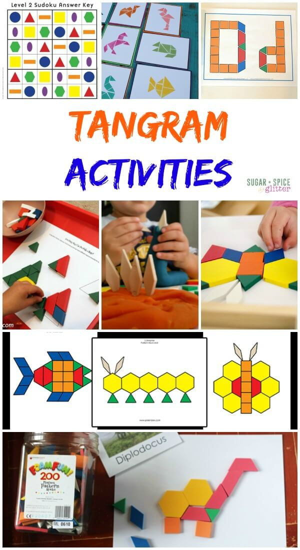 Tangram Activities - awesome hands-on math activities with tangram blocks