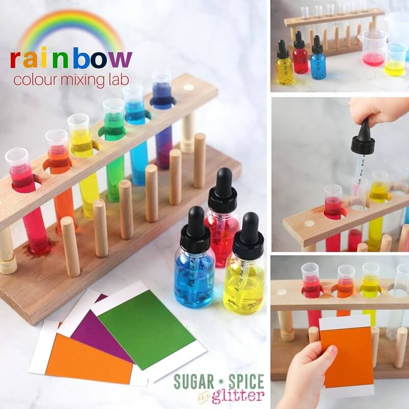 How to put together a colour mixing science activity