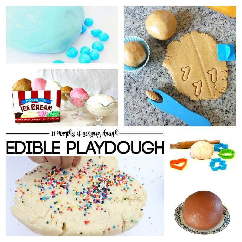 edible play dough group image