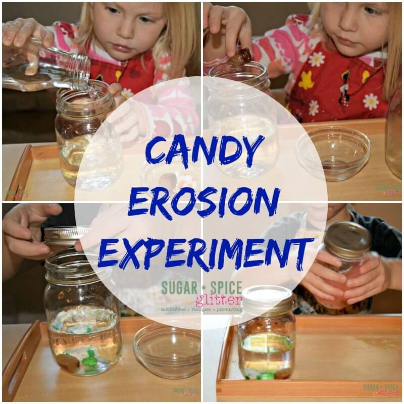 Candy Erosion Experiment on Sugar Spice and Glitter