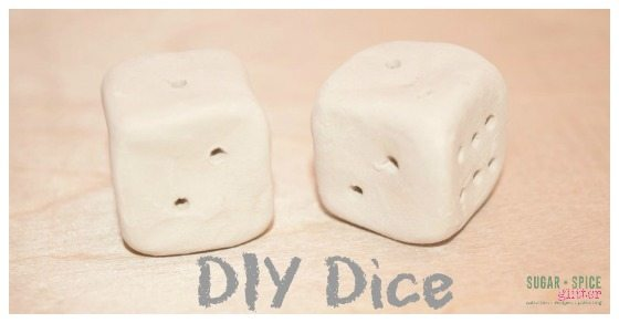 Make your set of dice with simple materials! Only a couple easy steps then add your own personal touch with custom paint on Sugar, Spice & Glitter