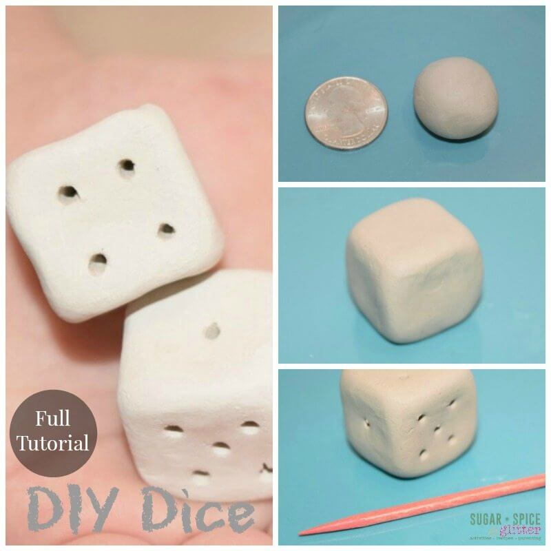 Use this full tutorial to make your own set of DIY Dice! Add color for a custom look for a fun math manupulative your kids will love on Sugar, Spice & Glitter.
