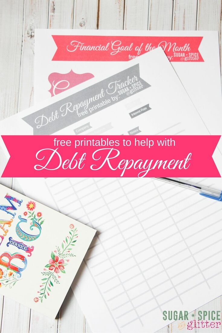 picture regarding Free Printable Debt Free Charts called Financial debt Reimbursement Printables ⋆ Sugar, Spice and Glitter