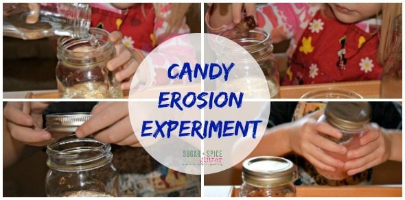 Easy Cany Erosion Experiment on Sugar Spice and Glitter