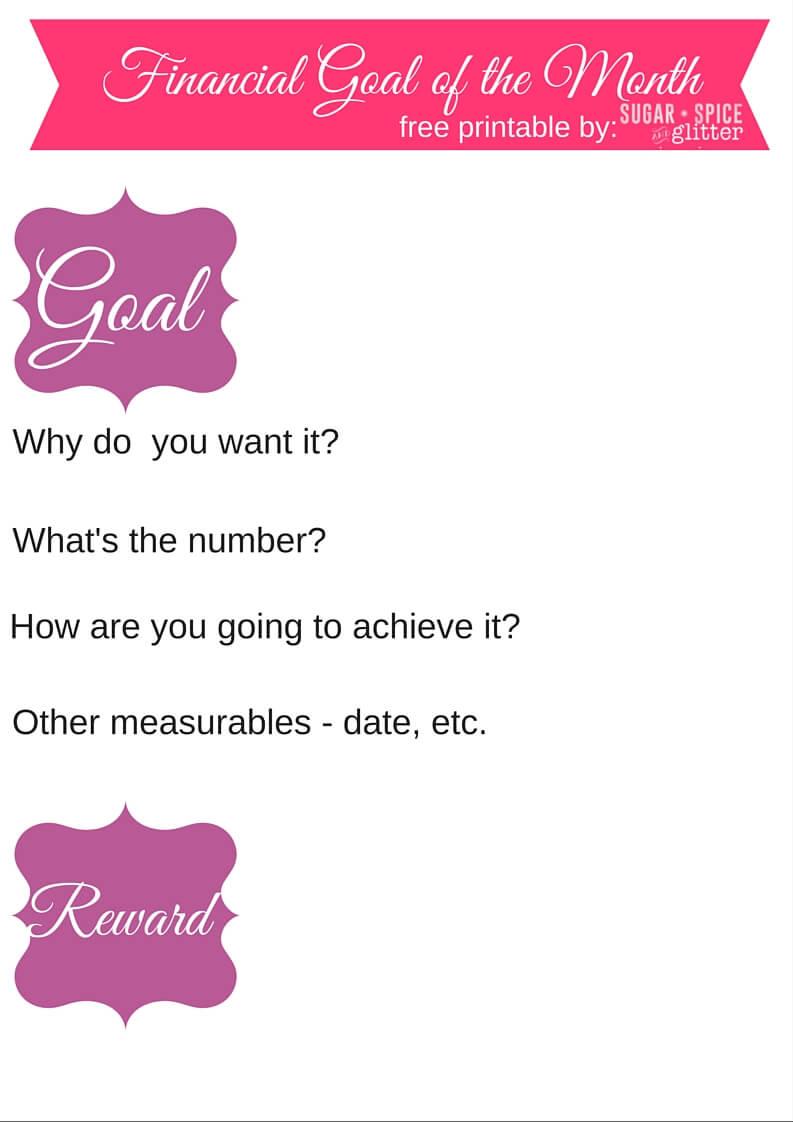 Financial Goal Chart