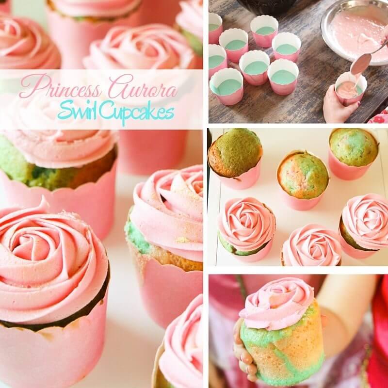 Princess Aurora Swirl Cupcakes (1)