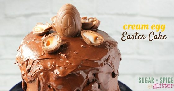 Triple chocolate Easter Cake - or is that quadruple chocolate? Either way, this is an easy way to chocolate overload.