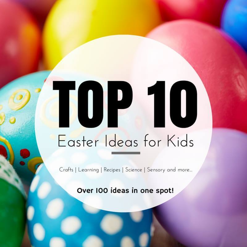 easter egg sensory play and more