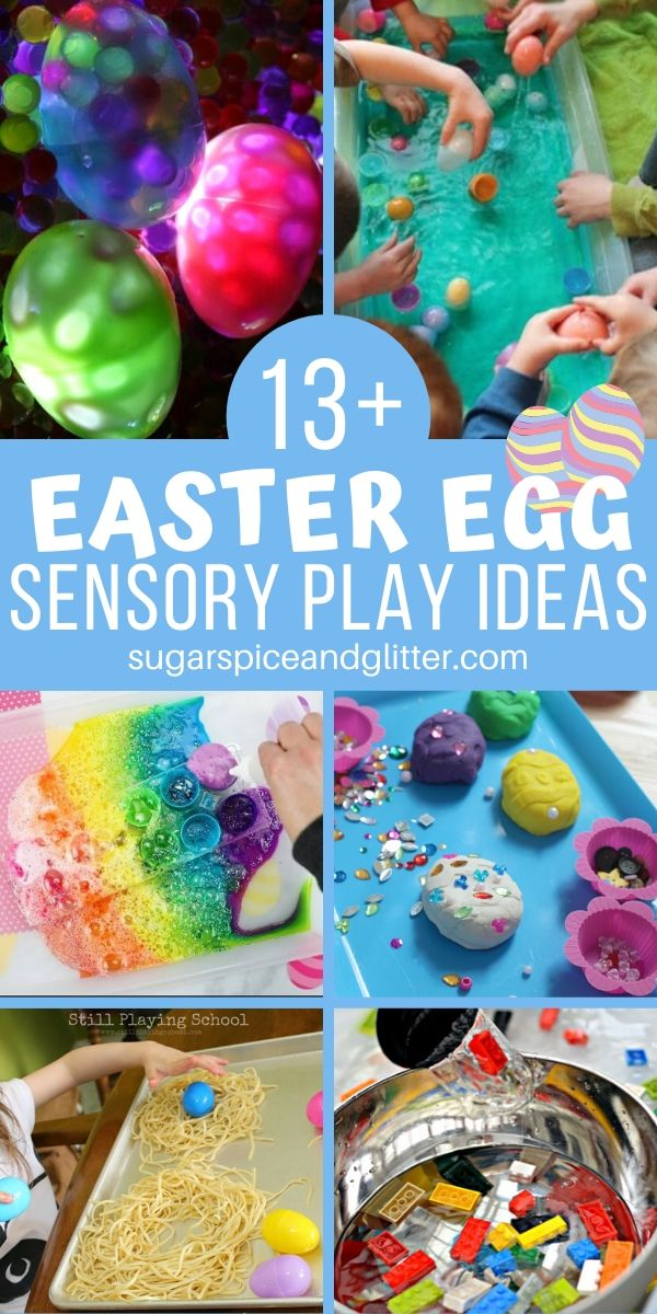 Wondering what to do with all of those plastic easter eggs? We've got 15 fun Easter Egg Sensory Play Ideas to keep your kids happy for days!