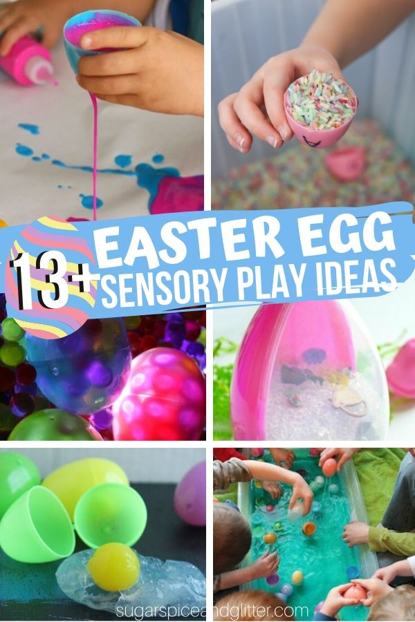 15 Unique and Fun Easter Sensory Play Ideas for Kids, including some that help build math, language and science skills