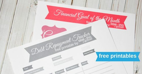 free printables for financial goal setting