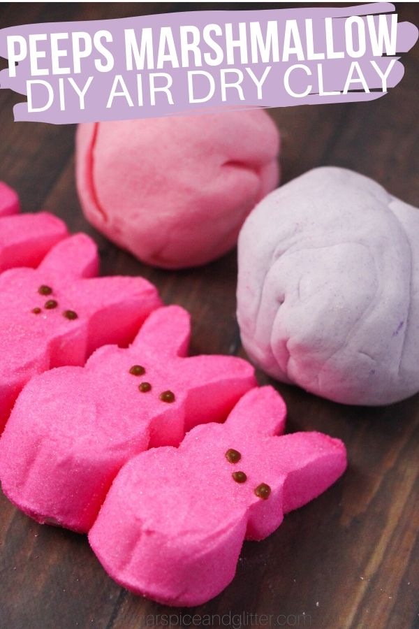 How to make edible marshmallow clay using PEEPS, a fun Easter Sensory Activity for kids