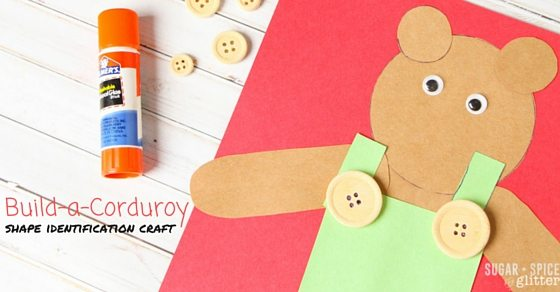 Build-a-Corduroy Shape Identification Craft for Kids