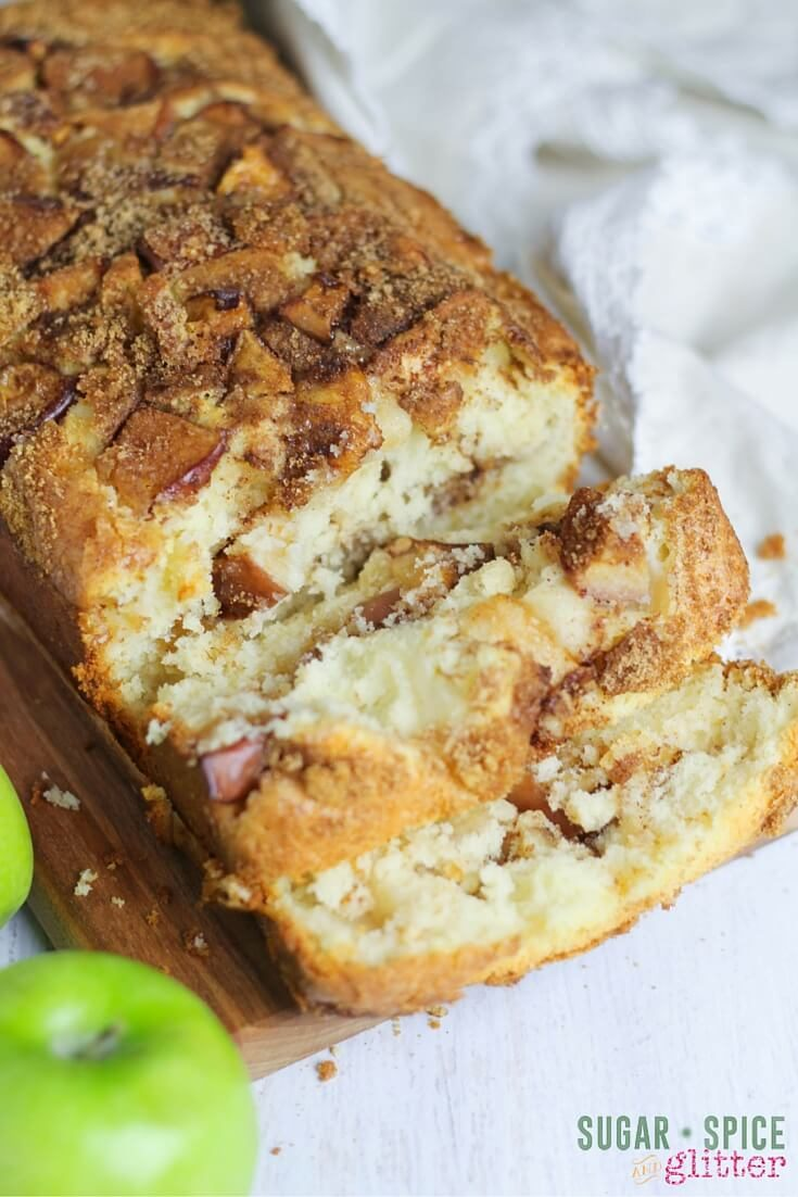 Kids Kitchen Apple Breakfast Loaf Recipe Sugar Spice And Glitter