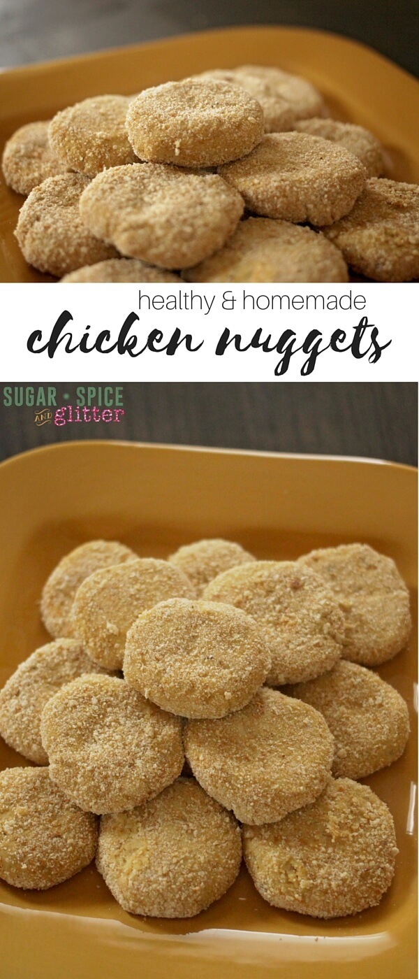 How to make healthy, homemade chicken nuggets that both kids and grown-ups will love. Paprika & dijon mustard are used to give the chicken nuggets a delicious, unexpected flavor
