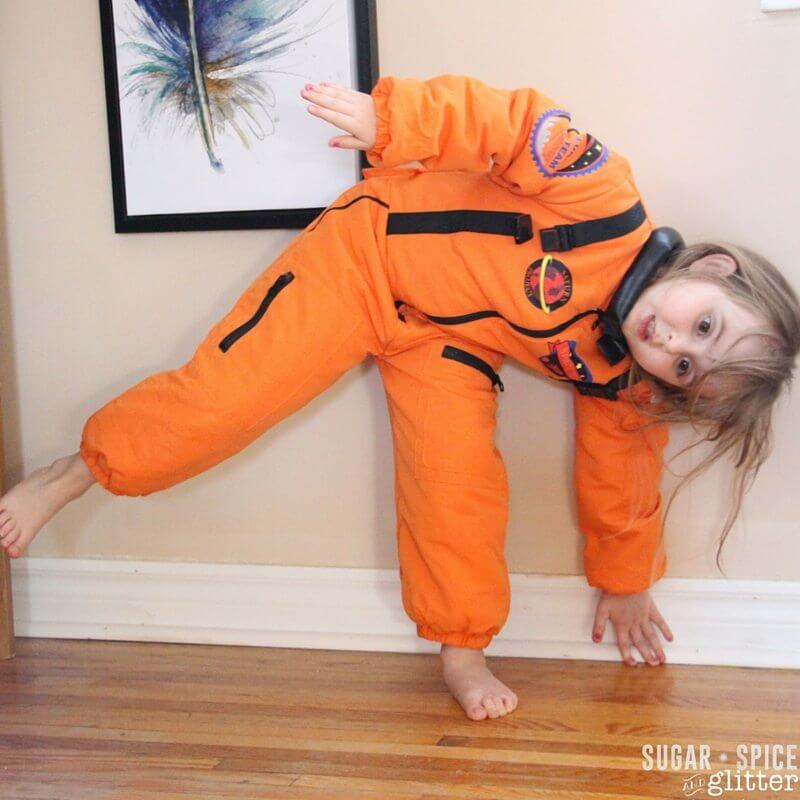 half moon pose for kids
