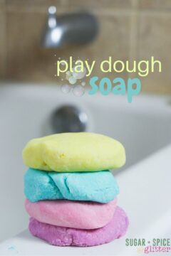 Bath Time Play Dough (with Video)