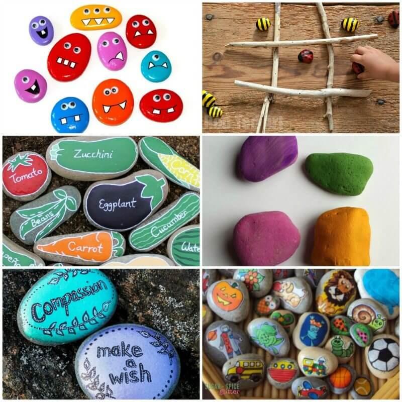 Rock Crafts for Kids on Sugar Spice