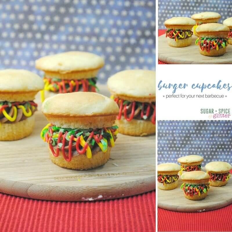 burger cupcakes composite