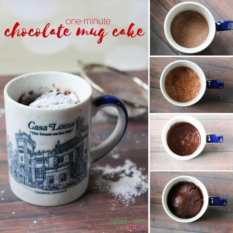 one-minute chocolate mug cake