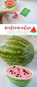 watermelon play dough math