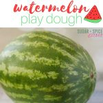 Watermelon Play Dough for Counting